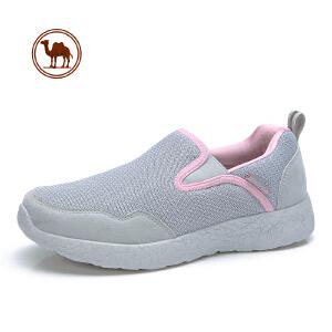 骆驼牌男女鞋 2018春秋网布运动休闲鞋健步鞋 防滑软底老人妈妈鞋