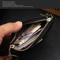 零钱包女士包手挽包女式手拎包手机包 格子纹黑色小号
