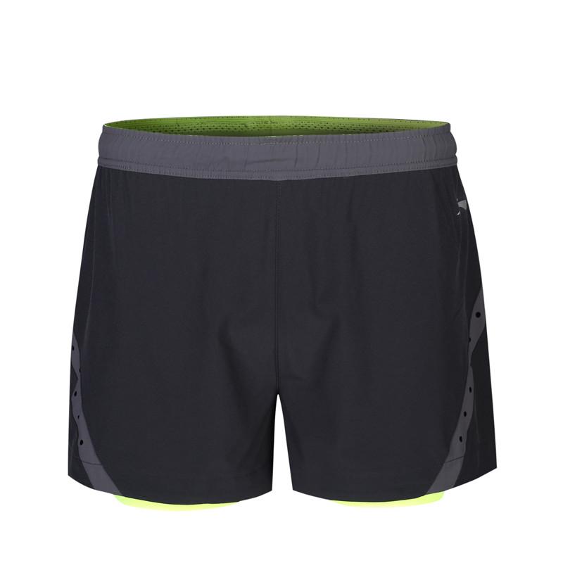李宁短裤男裤夏季跑步运动透气舒适拉链口袋内衬双层短裤运动裤 目前只能发邮局和顺丰