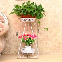 欧式花架落地式铁艺多层花篮架客厅阳台绿萝吊兰地面花架花盆架