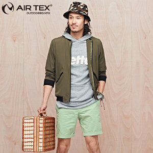 AIRTEX亚特户外防晒防风速干轻便飞行夹克男士时尚休闲单层外套