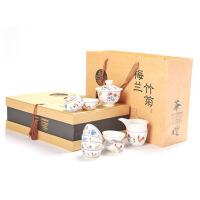 手绘斗彩陶瓷功夫茶具整套装茶杯茶壶茶海茶漏茶具套组家用办公室