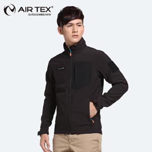 AIRTEX/亚特软壳冲锋衣男防风防水外套开衫户外新款