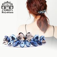 皇家莎莎韩国头饰发饰品横夹弹簧夹盘发顶夹马尾夹时尚盘头发卡子