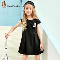 【3件3折:119元】暇步士童装女童连衣裙2020夏装新款儿童裙子修身洋气中大童短袖裙