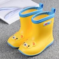 儿童雨鞋男童雨靴女童水鞋宝宝雨鞋防滑1-3婴幼小孩公主可爱