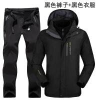 冬季情侣冲锋衣裤男套装女三合一两件套加厚防风衣户外登山滑雪服