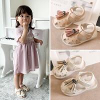 宝宝公主凉鞋女童1-3岁夏季休闲沙滩鞋子儿童婴儿软底防滑学步鞋2