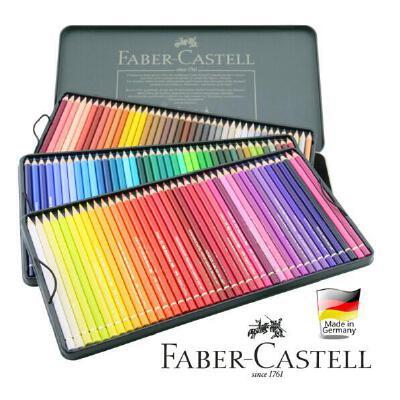 德国辉柏嘉绿铁盒水溶彩铅12 24 36 60色120色水溶性彩色铅笔 绿铁盒