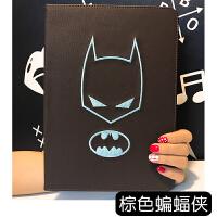 美漫威卡通钢铁蝙蝠侠苹果平板mini套iPadPro刺绣散热支架保护壳 棕色蝙蝠侠/iPad Mini1234通用