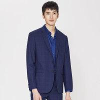 【2件2.5折到手价:243.75,4月10日0点】MECITY男装夏季时尚格子西服男外套