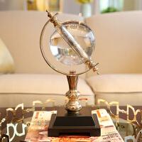 家居样板间软装饰品摆件 客厅书房水晶球地球仪创意工艺品摆设 地球仪摆件