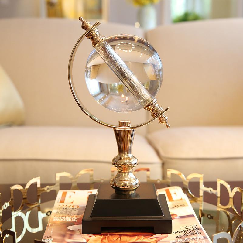 家居样板间软装饰品摆件 客厅书房水晶球地球仪创意工艺品摆设 地球仪摆件 发货周期:一般在付款后2-90天左右发货,具体发货时间请以与客服协商的时间为准