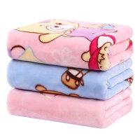 新生儿小毯子婴儿毛毯宝宝云毯儿童抱毯小孩包被子双层加厚秋冬季