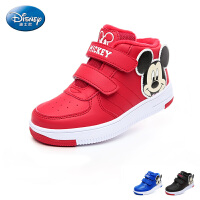 迪士尼disney童鞋17冬季新款儿童运动鞋米奇头高帮鞋加绒保暖男女童休闲鞋 (5-10岁可选) DS2587