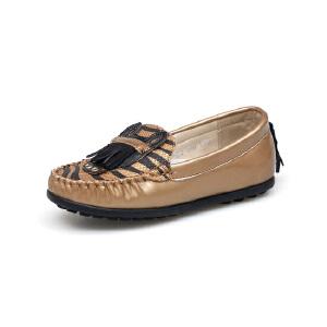 比比我新品新款品童鞋2017春新款女童流苏豆豆鞋女时尚皮鞋
