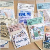 陌墨原创 复古大贴纸包 手帐DIY贴纸复古 8款可选 24张入