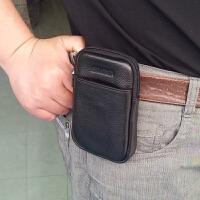 手机腰包男 真皮4.3 4.5 4.7 5.5寸手机包烟包穿皮带腰包竖款