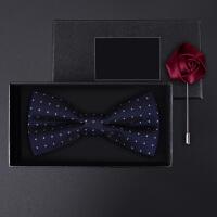 正装结婚婚礼英伦韩版蝴蝶结胸针礼盒装男士满天小星领结套装