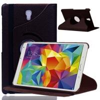 三星Galaxy Tab S 8.4寸皮套SM-T700平板电脑外壳T705C旋转保护套 T700旋转 棕色