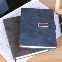 笔记本文具笔记本子加厚记事本商务手账本套装日记本创意简约大学生计划本带扣