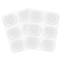 优家(UPLUS)透明硅胶高跟鞋随意小圆贴2片12个装(高跟鞋贴 后跟贴 防磨脚)
