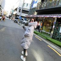 羽绒服女中长款韩国冬季新款韩版修身显瘦大毛领加厚斗篷型潮
