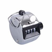 计数器 四位手动式计数器机械点数器手按取数器带底座人流念佛金属记数器