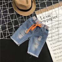 夏季新款儿童裤子男童女童宝宝百搭漆点五分七分牛仔短裤A7-A32