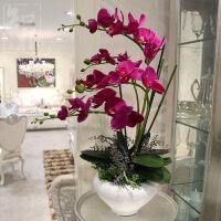 真花蝴蝶兰套装花瓶盆栽假花装饰花客厅绢花摆设花艺