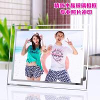 水晶相框摆台6寸7寸8寸10寸照片冲印 相框摆台 玻璃 洗照片加相框
