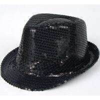 表演帽子 礼帽 亮片礼帽 迈克尔杰克逊礼帽 爵士帽 韩版男女通用1