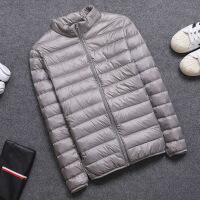 2018新款反季轻薄羽绒服男士短款立领大码薄款修身秋冬季休闲外套