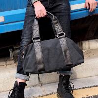 男士帆布包大容量旅行包休闲斜挎手提包韩版潮男包时尚简约手拎袋