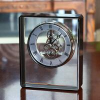 欧式家居装饰品摆件客厅水晶座钟装饰品酒柜工艺品美式电视柜摆设