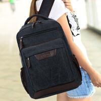 初中高中学生书包双肩包男女复古电脑背包旅游包