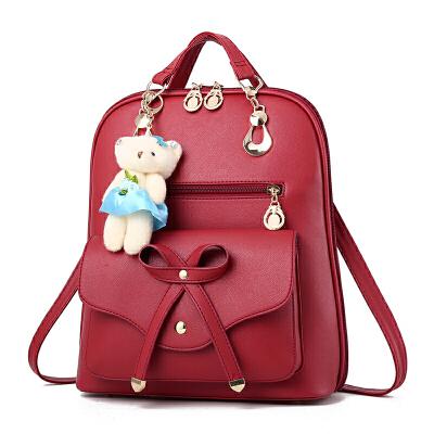 女士双肩包女包韩版时尚个性百搭包包皮背包旅行大容量学生书包