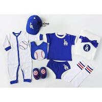 夏季宝宝短袖男婴儿套装礼盒新生儿*满月衣服创意摄影出生礼物 73cm(0-6M 送新生或满月宝宝)