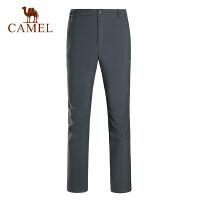 camel骆驼户外软壳裤 秋冬男女摇粒绒保暖舒适登山软壳裤