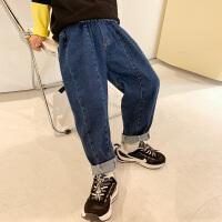 男童裤子牛仔裤春秋季大男孩儿童装长裤潮帅气