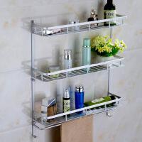 太空铝浴室置物架毛巾架 厕所洗手间卫生间置物架收纳架壁挂