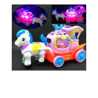 电动马婴儿玩具3-6-12个月宝宝男孩0-1岁小孩女十8新生儿抖音 电动马车 官方标配