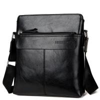 韩版男包单肩包斜挎包男士皮包商务休闲包包潮流竖款背包男公文包