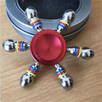 ?指尖陀螺手指螺旋�和�玩具�W光持久陀螺�艄�晒馊��~指�g旋�D? 7_香��色 金色六臂