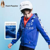 【秒杀价:149元】暇步士童装冬季新款男童加绒卫衣时尚简约开身卫衣儿童卫衣