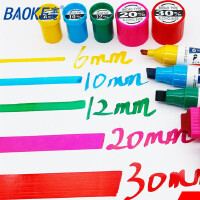 宝克POP笔 广告笔手绘海报笔麦克笔套装6/12/20/30mm马克笔水补充液油唛克笔写彩画的性超市药店学生美术专用