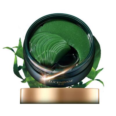 透真LUCENBASE 螺旋藻绿凝胶眼膜贴 淡化眼纹眼袋黑眼圈细纹 紧致提拉消 补水保湿绿眼膜贴 60片 补水淡化黑眼圈 改善眼袋 缓解眼纹眼部护肤