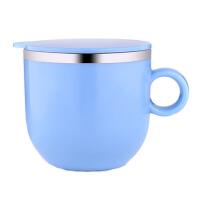 304不锈钢儿童杯子 保暖喝水杯带盖有手柄 学生宝宝保温饮水杯