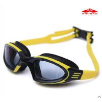男女款防紫外线高游泳眼镜装备泡温泉清防雾防水大人儿童通用