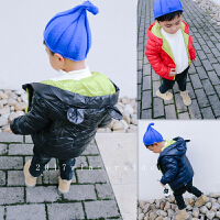 韩版冬季新款男童女童耳朵手塞棉外套轻薄羽绒B2-T37